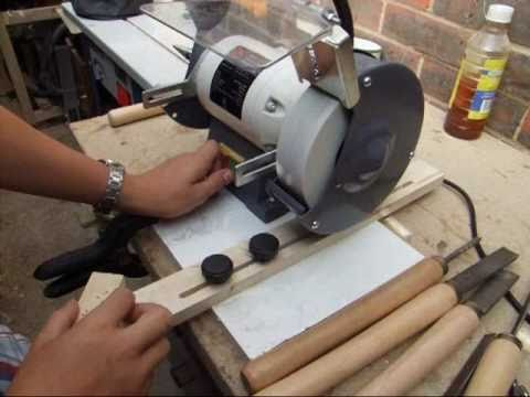 ... Sharpening Jig For The Bench Grinder - Woodturning Tools - YouTube