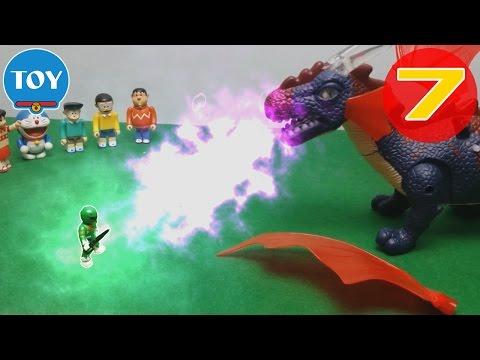 Doremon siêu nhân tí hon tập 7 - khủng long quỷ đánh siêu nhân xanh lá - Hoạt hình doremon chế hài