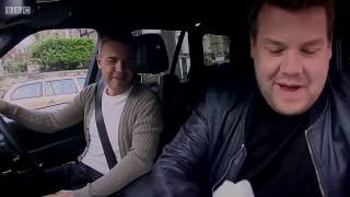 James Corden carpool karaoke w/ Take That's Gary Barlow, his hero - Very FUNNY!