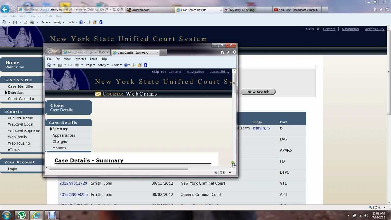 How to find out court date online