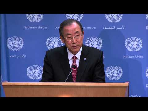 WorldLeadersTV: UN SECURITY COUNCIL MUST UNITE in RESPONSE to SYRIAN CRISIS: UN S-G BAN KI-MOON