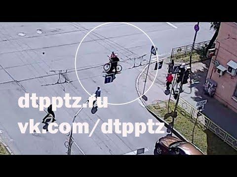 На улице Антикайнена подрались велосипедист и пассажир автомобиля