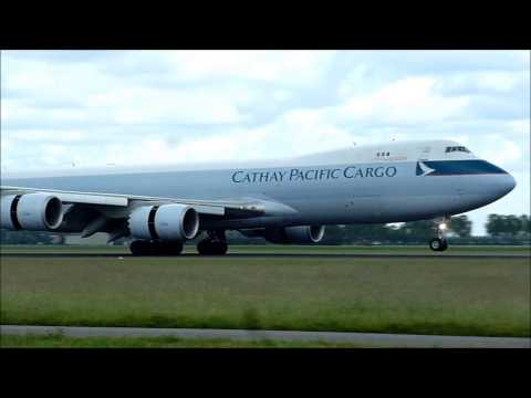 Cathay Pacific Cargo - Boeing 747-800F - Lands at AMS