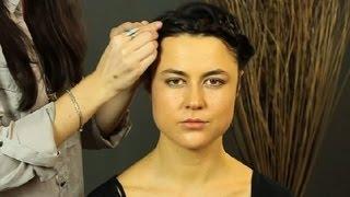 Simple Crown Braids For Short Hair : Shoulder-Length