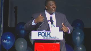 La'Vontae Johnson, GEICO Academy Student, Speaks at Polk Designation