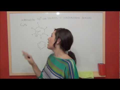 QUIMICA Hibridación sp2 con enlaces deslocalizados   Benceno
