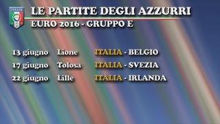 EURO 2016: l'Italia con Belgio, Irlanda e Svezia