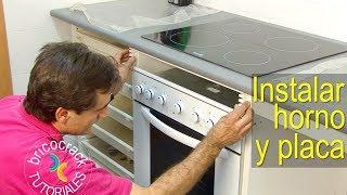 Instalación de una placa de cocina y un horno