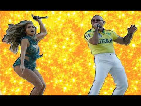 JLO  y PITBULL HACEN PLAYBACK en Mundial de Brasil 2014