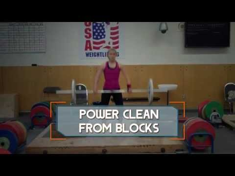 Power Clean from Blocks