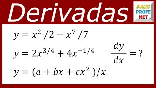Derivadas De Funciones Algebraicas Derivatives Of