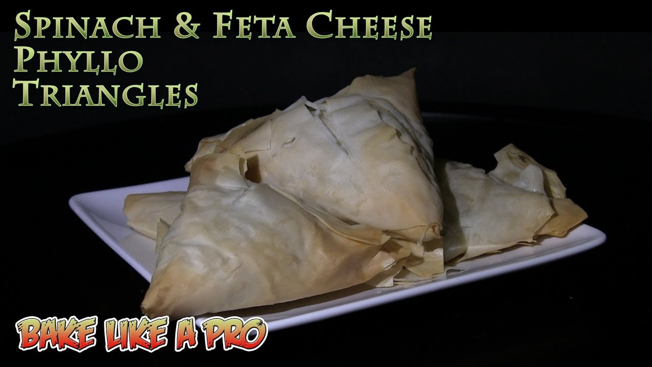 Spinach & Feta Cheese Phyllo Triangles Simple Spanakopita (Greek ...