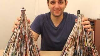 Como Fazer Uma árvore De Natal Com Uma Revista (origami