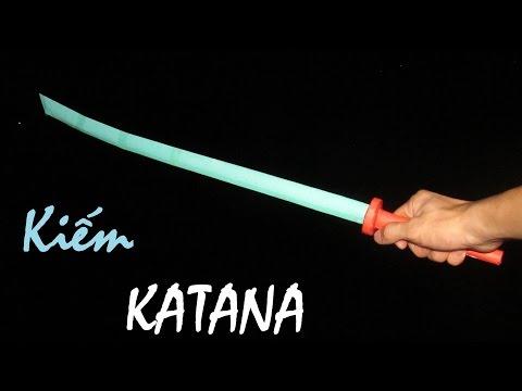Làm kiếm Nhật từ Giấy   Kiếm Katana