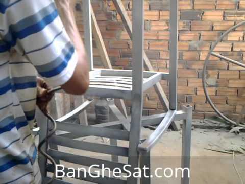 Sơn epoxy bàn ghế sắt ngoài trời cho quán Tee Cafe đợt 2