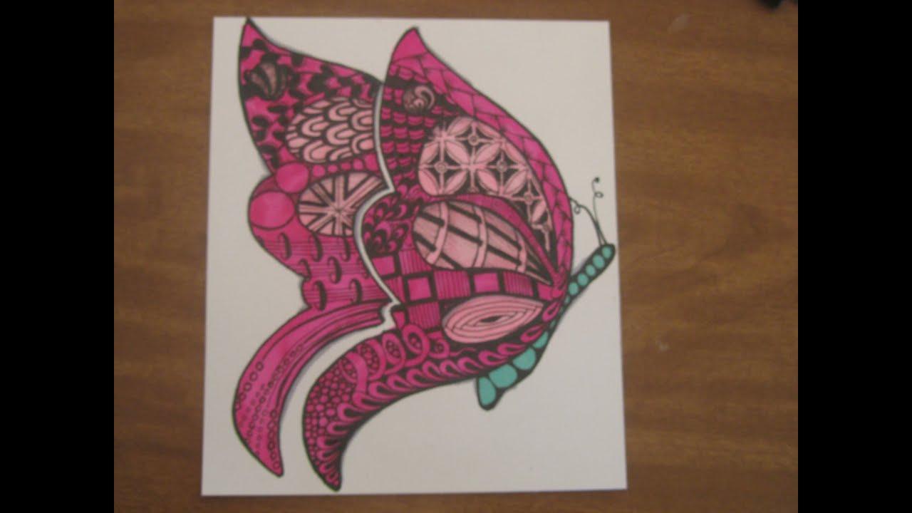maxresdefault jpgZentangles Butterfly