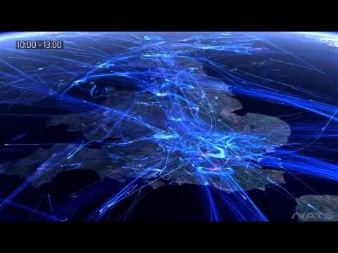 Hình ảnh đẹp mắt nhìn từ vũ trụ của 30 000 chuyến bay ở châu Âu