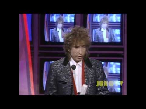 Bob Dylan at The 1986 JUNO Awards