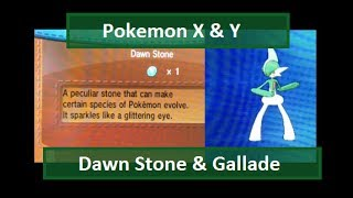 Pokemon X & Y: Dawn Stone & Gallade