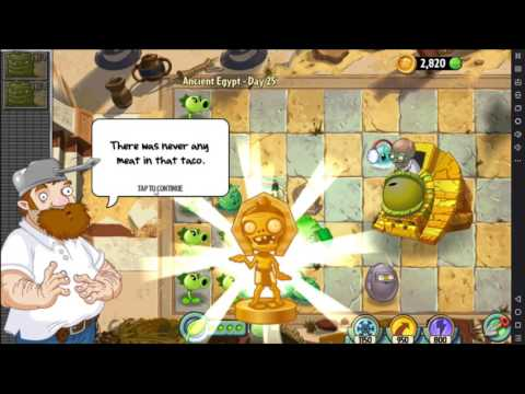 Plants vs Zombies 2 - Ancient Egypt Day 25 Gameplay..