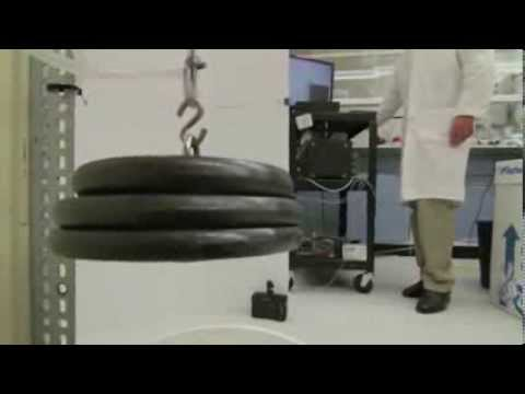 Demonstrates the strength a artificial muscles