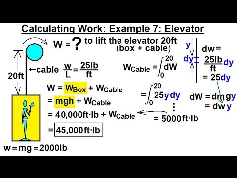 Calculus 2: Apllications - Calculating Work (8 of 16) Calculating Work Example 7: Elevator