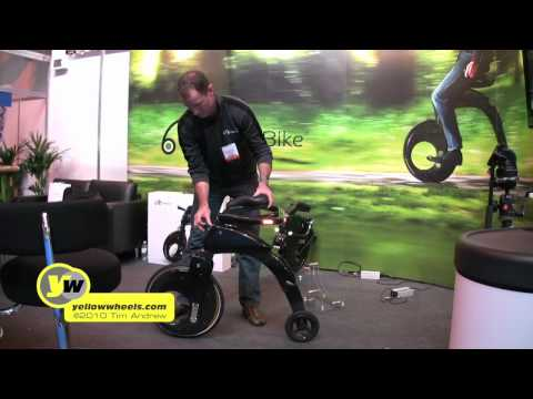 YikeBike electric bike test and interview at the Gadget Show