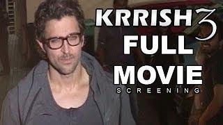 Krrish 3 Full Movie Official Screening