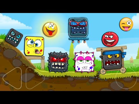 """RED BALL 4 - All Bosses """"FUNNY SUPERSPEED"""" Battle with Super Red Ball"""