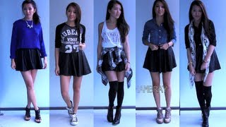 Styling: Pleather Circle Skirt