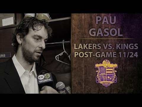 Lakers Vs. Kings: Pau Gasol On Lakers .500 Record Without Kobe And Concern For Brother's Injury