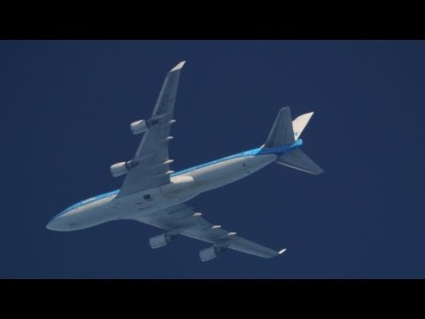 Aircraft Spotting Telescope - KLM 612 - Missing underbelly panel...guess which one? Aug 10 2013