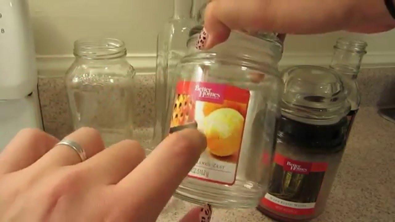 C mo quitar la etiqueta de los frascos de vidrio y c mo - Etiquetas para velas ...