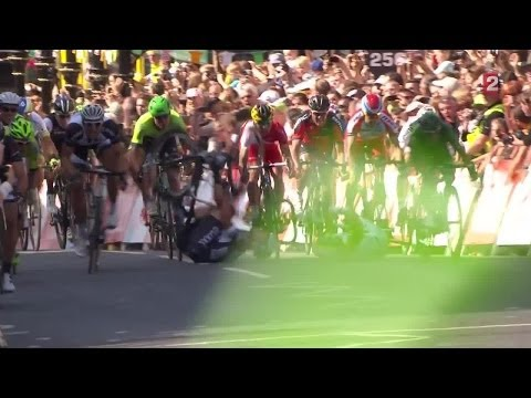 La chute de Cavendish à l'issue de la 1re étape