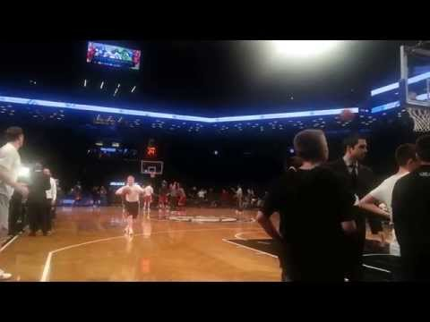 Courtside @ Brooklyn Nets pre-game shootaround:  Mirza Teletovic (1 of 2)