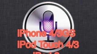 How To Get Siri On IPhone 4 IOS 6 / 7 Jailbreak! (and IPad