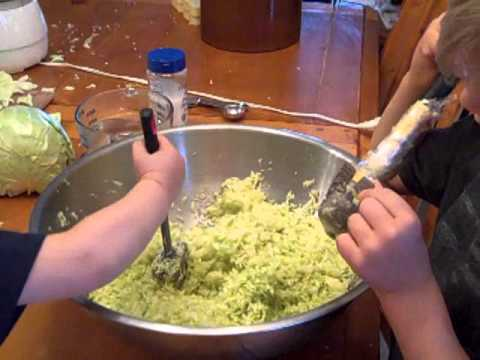how to make homemade sauerkraut video