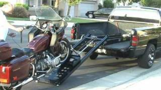 Rampage Power Lift Motorcycle Loader Makes Loading Easy Of