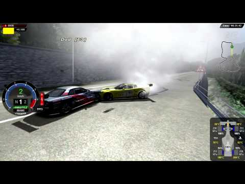 WAD HD™ - rFactor - Corvette vs Nissan Skyline