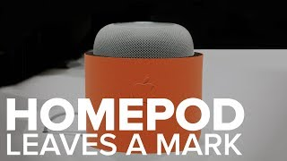 HomePod leaves a white ring on wooden surfaces (CNET News)