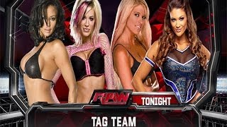 WWE 2K14: Ashley Massaro & Candice Michelle Vs Kelly Kelly