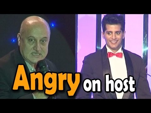 Anupam Kher looses his calm with Karanvir Bohra