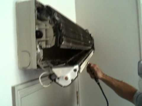 Air Conditioning Wall Mount Unit Blocked Scroll Fan