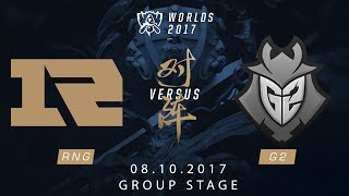 [08.10.2017] RNG vs G2 [Group Stage][CKTG2017][Bảng C]