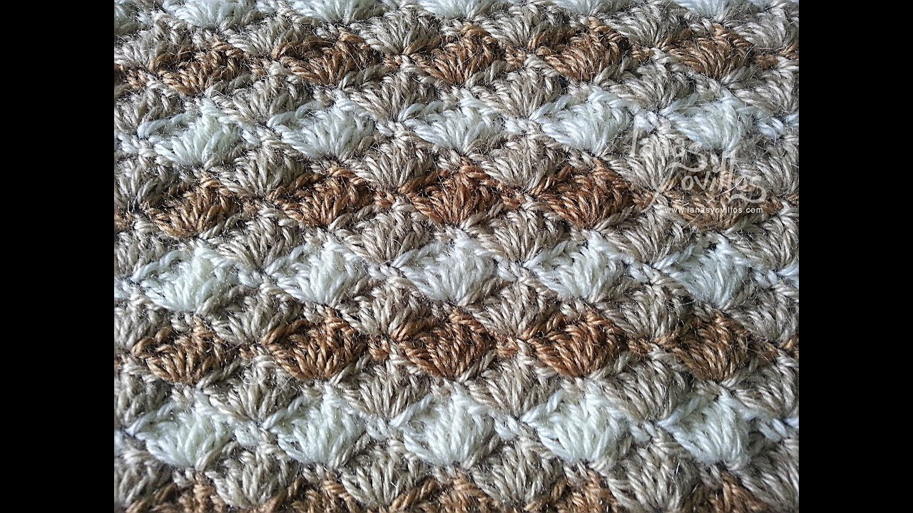 Crochet Stitches Tutorial Youtube : Tutorial Punto Concha Crochet o Ganchillo Shell Stitch - YouTube