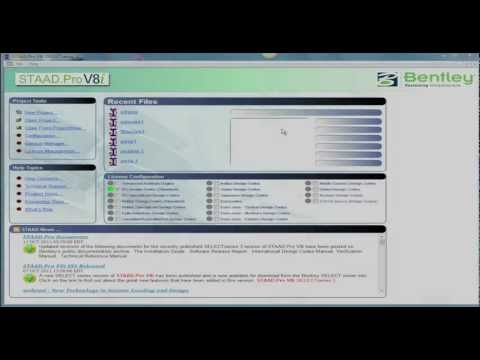 STAAD.Pro V8i Basics (Part 5 - Video) Command Line Interface