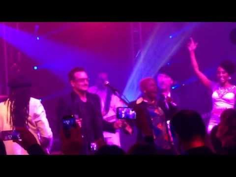 Bono & Nile Rodgers Perform Get Lucky at (RED) Auction After Party