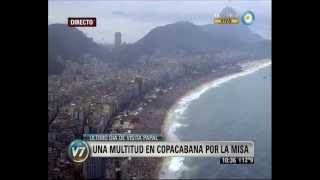 Папа Римський провів службу на пляжі в Ріо-де-Жанейро перед 3 мільйонами вірян