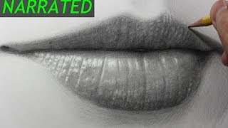 How to Draw the Mouth & Lips [Narrated Step by Step]