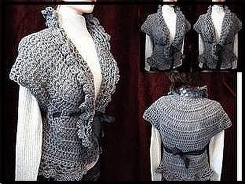 Crochet a LACY SHRUG PART 1.